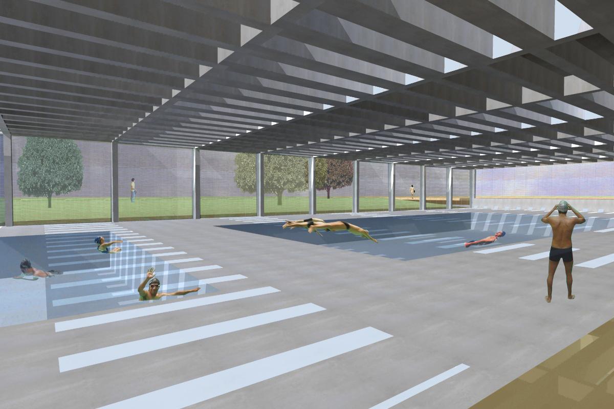 Proyecto de piscina y gimnasio en massamagrell martin for Piscina y gimnasio